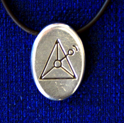 Angela Dicker's Starcode Lead-Free Pewter Auriga Keystone - The Transit Key of Action and Assertive Energy