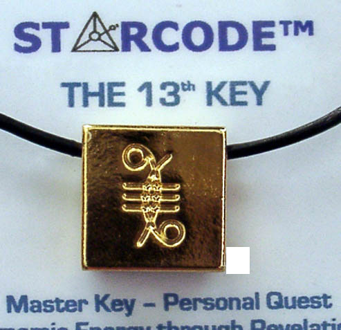 Angela Dicker's 23 Carat Gold Plated Starcode 13th Key