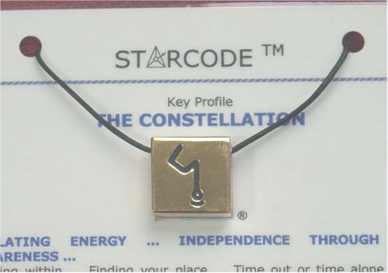 Angela Dicker's 23 Carat Gold Plated Starcode Constellation Key